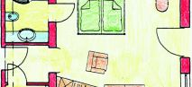 Penken double room Plan