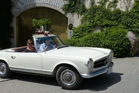 South Tyrolean classic car packages including 4 hours rental of a classic car