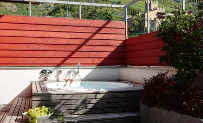 Whirlpool des Relaxzimmers