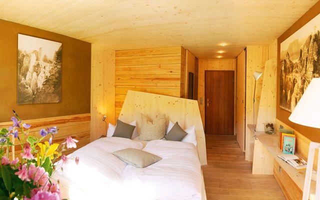 Öko-Komfort-Zimmer im Bio-Hotel Sächsische Schweiz