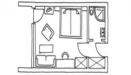 Doppelzimmer Balkon Talseite im Stammhaus