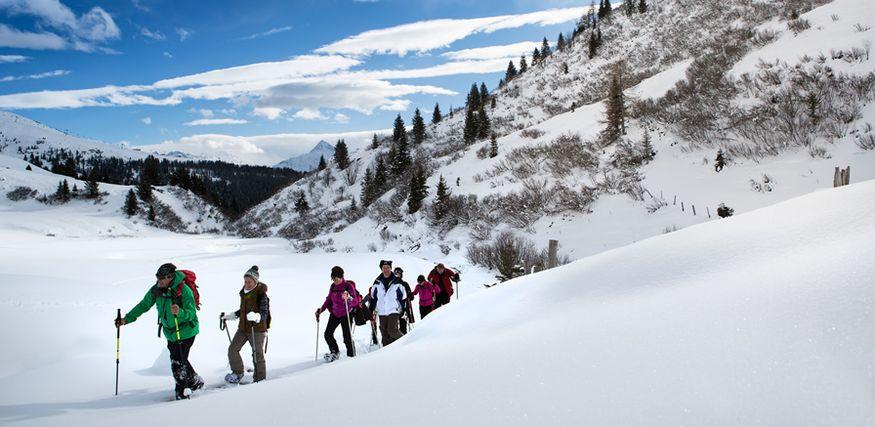 Spuren im Schnee = 7 Nächte inkl. 2 geführte Schneeschuhwanderungen