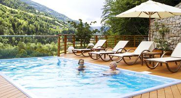 Vital-Chalet mit Pool (32°) und Sauna auf der privaten Panorama-Dachterrasse: - 30%