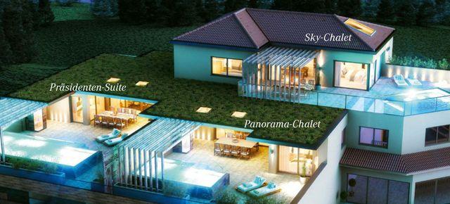 Luxus-Deal -20%: die neue Präsidenten-Suite mit Pool & Sauna